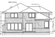 Prairie Style House Plan - 3 Beds 2.5 Baths 2503 Sq/Ft Plan #94-214 Exterior - Rear Elevation