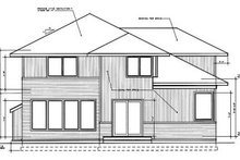 Prairie Exterior - Rear Elevation Plan #94-214
