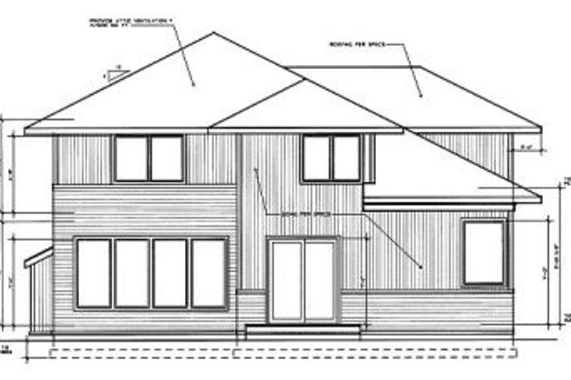 Prairie Exterior - Rear Elevation Plan #94-214 - Houseplans.com