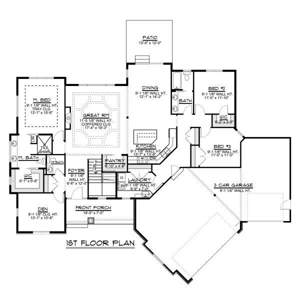 Dream House Plan - Craftsman Floor Plan - Main Floor Plan #1064-83