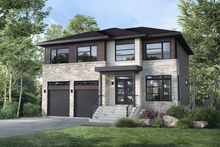 Home Plan - Contemporary Exterior - Front Elevation Plan #25-4885