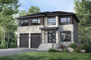 Contemporary Exterior - Front Elevation Plan #25-4885