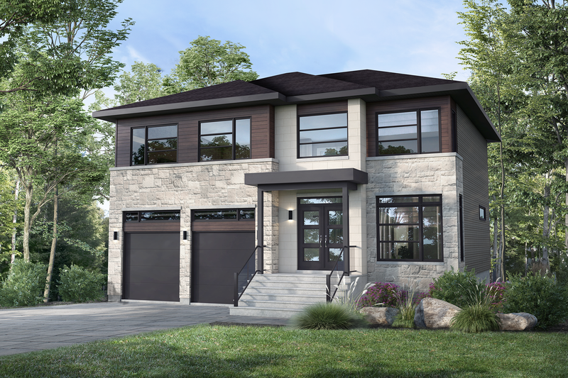 Architectural House Design - Contemporary Exterior - Front Elevation Plan #25-4885