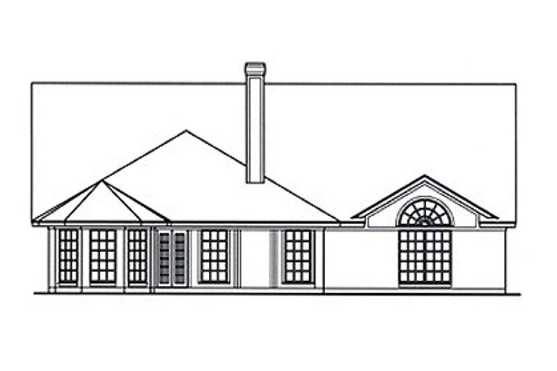 Country Exterior - Rear Elevation Plan #42-387 - Houseplans.com