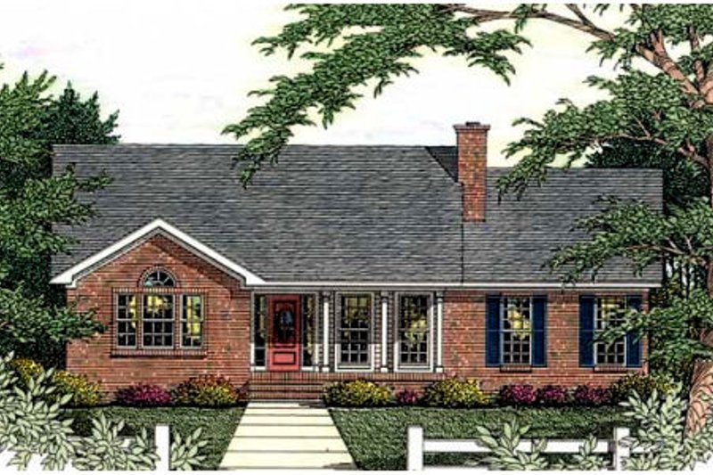 Country Exterior - Front Elevation Plan #406-230