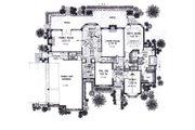 European Style House Plan - 4 Beds 4 Baths 3358 Sq/Ft Plan #310-937 Floor Plan - Main Floor