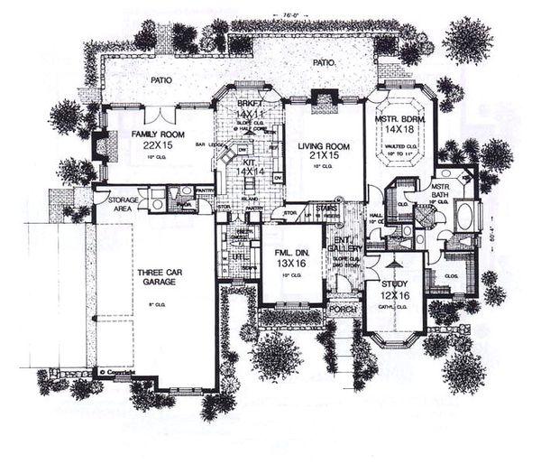 European Floor Plan - Main Floor Plan #310-937