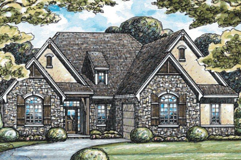 Dream House Plan - European Exterior - Front Elevation Plan #20-2046