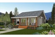 Cabin Style House Plan - 1 Beds 1 Baths 695 Sq/Ft Plan #126-216 Exterior - Other Elevation