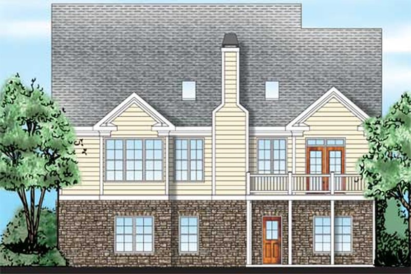 Traditional Exterior - Rear Elevation Plan #927-42 - Houseplans.com