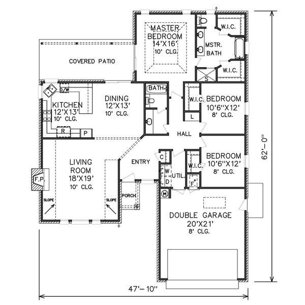 Traditional Floor Plan - Main Floor Plan Plan #65-108