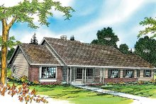 Ranch Exterior - Front Elevation Plan #124-273
