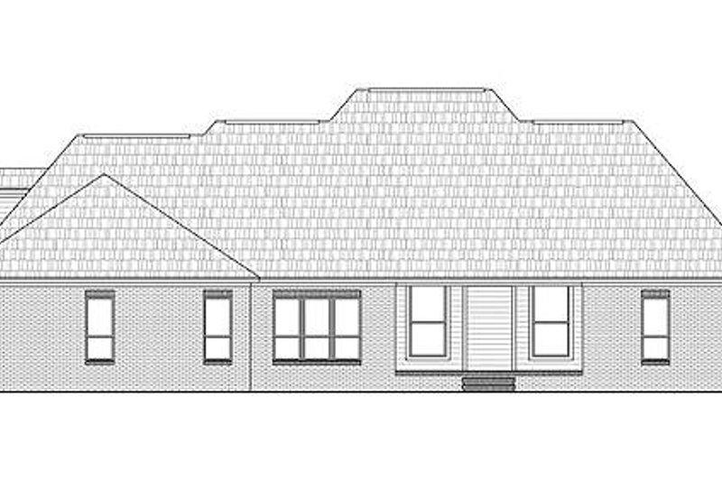 Traditional Exterior - Rear Elevation Plan #21-300 - Houseplans.com