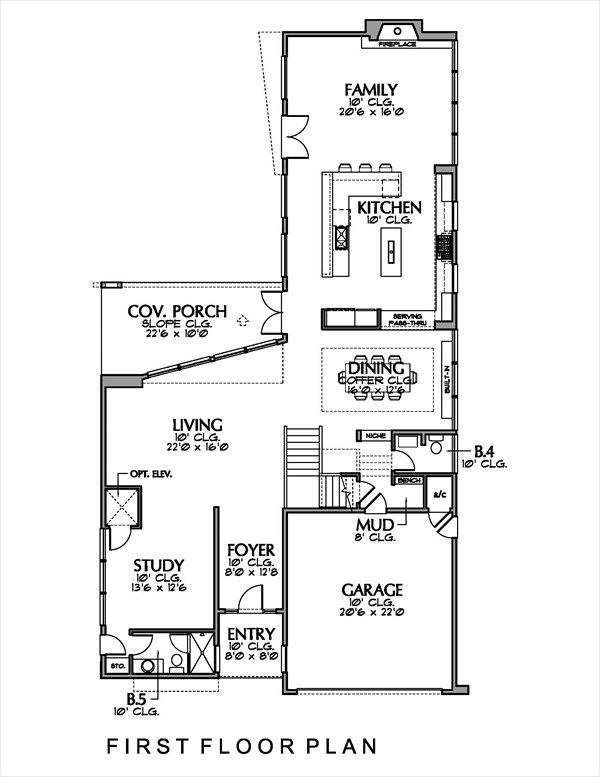 Modern Floor Plan - Main Floor Plan #449-13