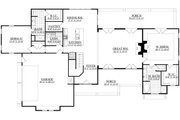 Craftsman Style House Plan - 4 Beds 3 Baths 2860 Sq/Ft Plan #1071-23 Floor Plan - Main Floor Plan