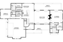 Craftsman Floor Plan - Main Floor Plan Plan #1071-23