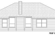 Home Plan - Traditional Exterior - Rear Elevation Plan #84-547
