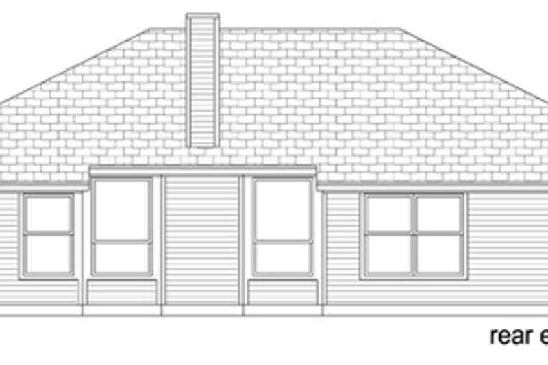 Traditional Exterior - Rear Elevation Plan #84-547 - Houseplans.com