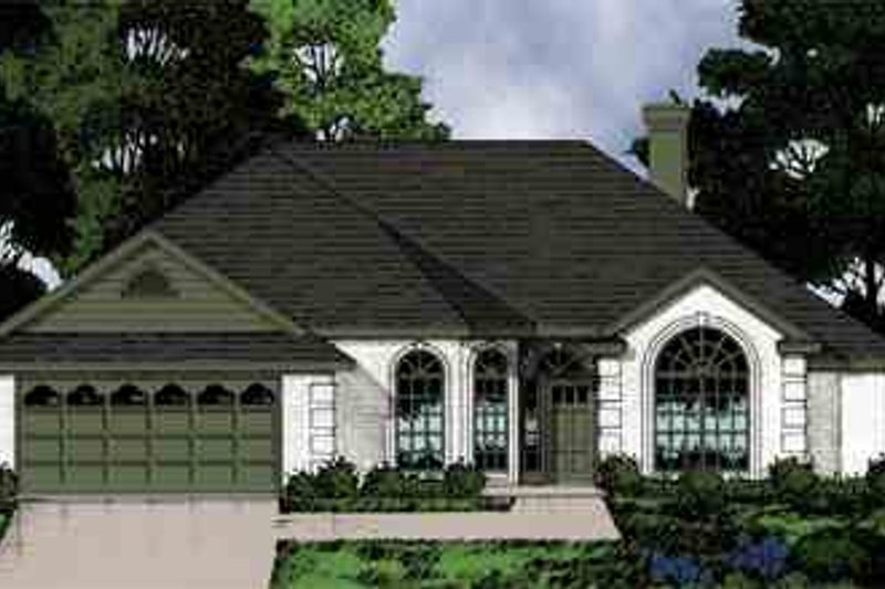 Mediterranean Exterior - Front Elevation Plan #40-169 - Houseplans.com
