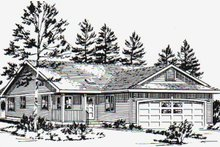 Home Plan - Ranch Exterior - Front Elevation Plan #18-1029