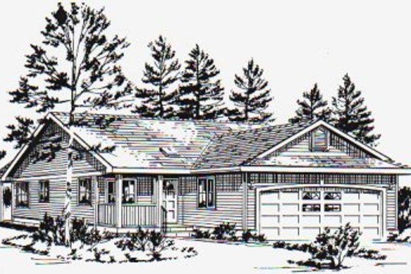 House Blueprint - Ranch Exterior - Front Elevation Plan #18-1029