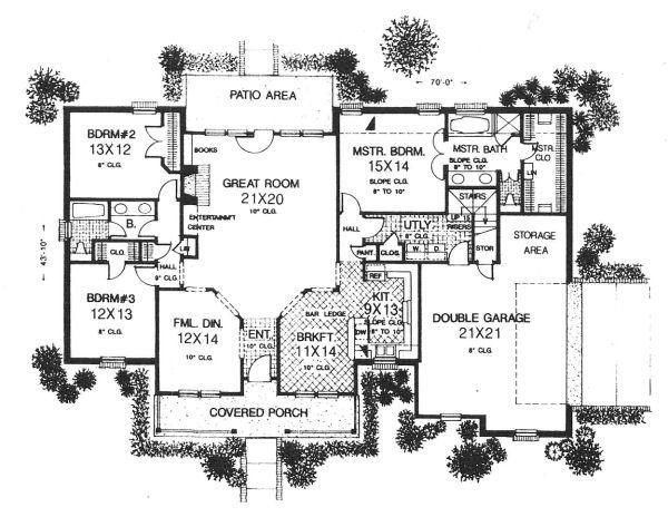 Farmhouse Floor Plan - Main Floor Plan #310-610