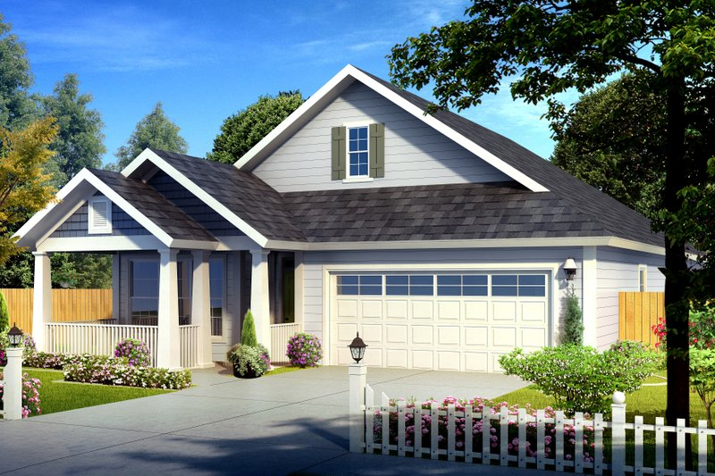 Cottage Style House Plan - 3 Beds 2 Baths 1786 Sq/Ft Plan #513-2087 Exterior - Front Elevation