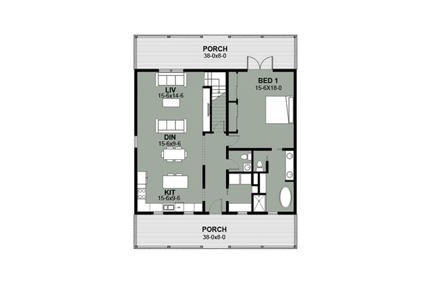 Farmhouse Floor Plan - Main Floor Plan Plan #497-7