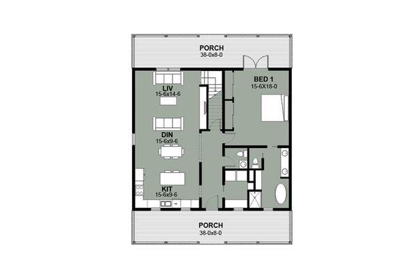 Dream House Plan - Farmhouse Floor Plan - Main Floor Plan #497-7