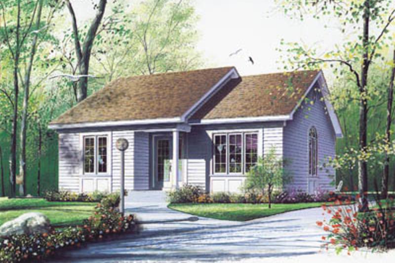 Cottage Exterior - Front Elevation Plan #23-116 - Houseplans.com