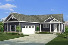 House Plan Design - Craftsman Exterior - Front Elevation Plan #1057-21