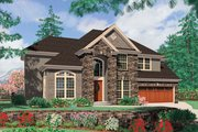 European Style House Plan - 4 Beds 2.5 Baths 3402 Sq/Ft Plan #48-546 Exterior - Front Elevation