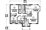 Classical Style House Plan - 3 Beds 1 Baths 1193 Sq/Ft Plan #25-4851 Floor Plan - Main Floor Plan