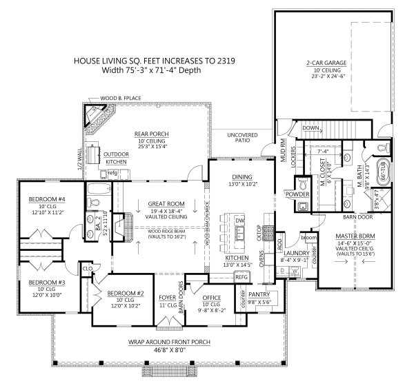 Dream House Plan - Optional Basement Foundation