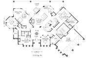 European Style House Plan - 3 Beds 3 Baths 5112 Sq/Ft Plan #509-26 Floor Plan - Main Floor Plan