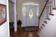 Architectural House Design - Entry - 3100 square foot Southern home