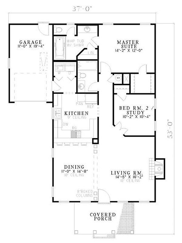 Classical Floor Plan - Main Floor Plan #17-179