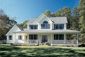 Country Exterior - Front Elevation Plan #312-444
