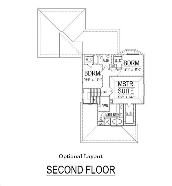 Craftsman Floor Plan - Other Floor Plan Plan #458-11