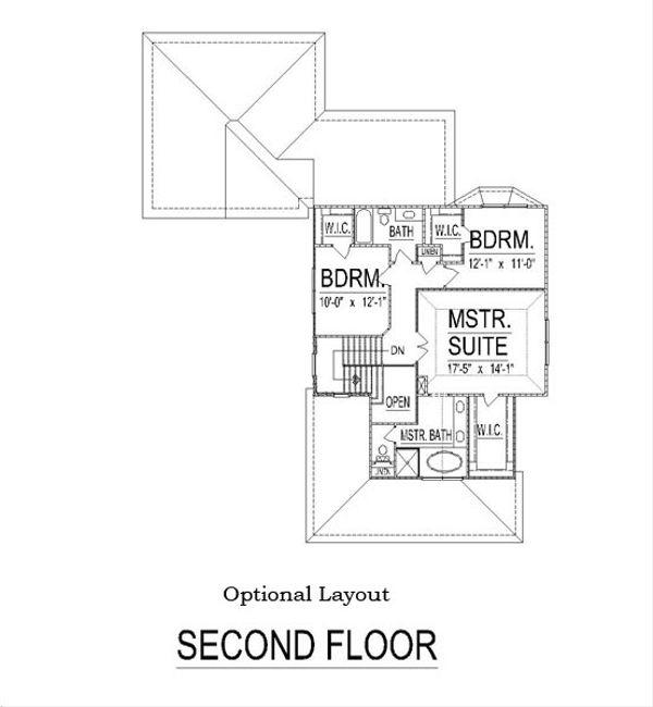 Craftsman Floor Plan - Other Floor Plan #458-11