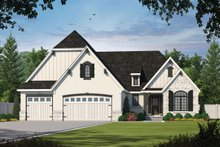 Home Plan - European Exterior - Front Elevation Plan #20-2079