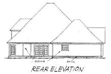 Home Plan - Traditional Exterior - Rear Elevation Plan #20-177