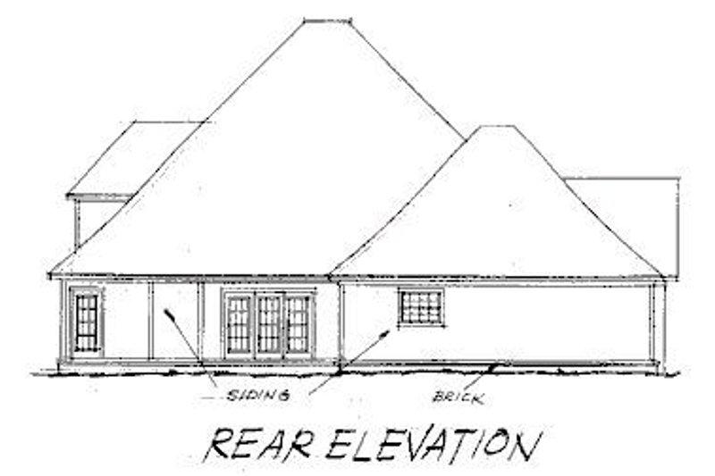 Traditional Exterior - Rear Elevation Plan #20-177 - Houseplans.com