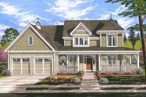 Architectural House Design - Farmhouse Exterior - Front Elevation Plan #46-884