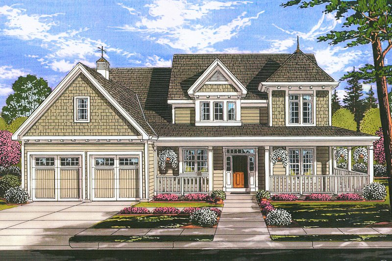 Home Plan - Farmhouse Exterior - Front Elevation Plan #46-884