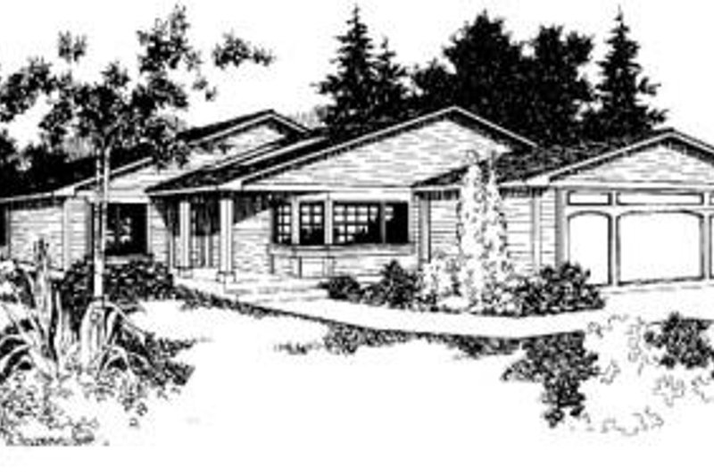 Traditional Exterior - Front Elevation Plan #60-413 - Houseplans.com