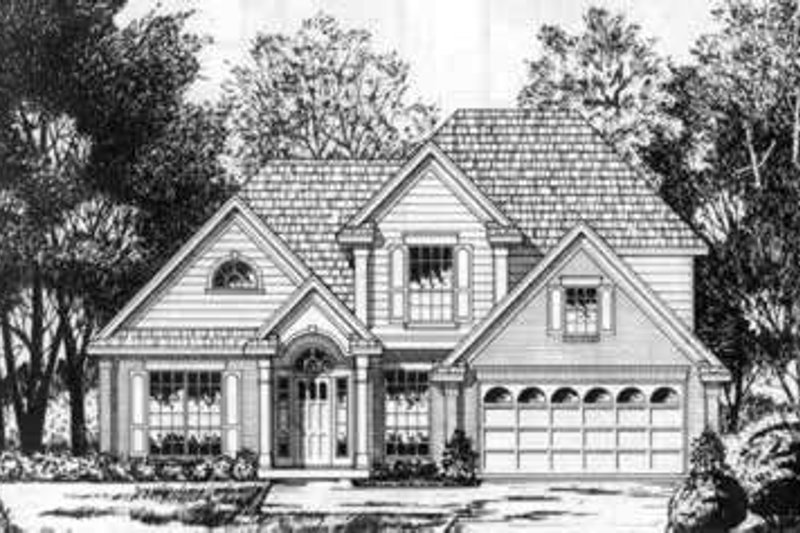 European Exterior - Front Elevation Plan #40-365
