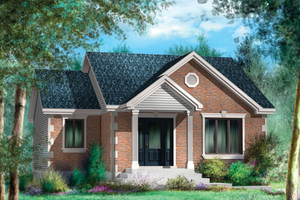 Classical Exterior - Front Elevation Plan #25-4642