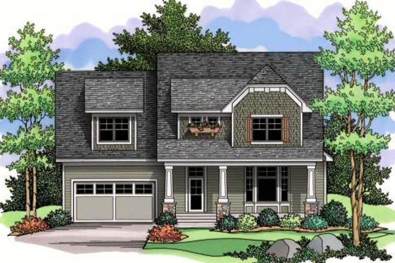 Craftsman Exterior - Front Elevation Plan #51-365