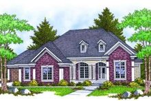 Dream House Plan - European Exterior - Front Elevation Plan #70-806